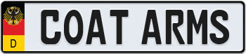 german-coa-european-license-plate