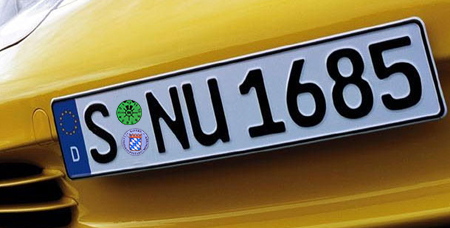 A Brief Description Of German License Plates The Euro Plate Blog